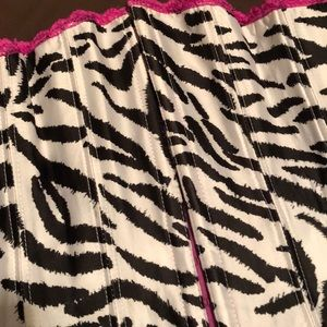 Frederick's of Hollywood Other - Cute zebra print bustier (fuschia, black & white)